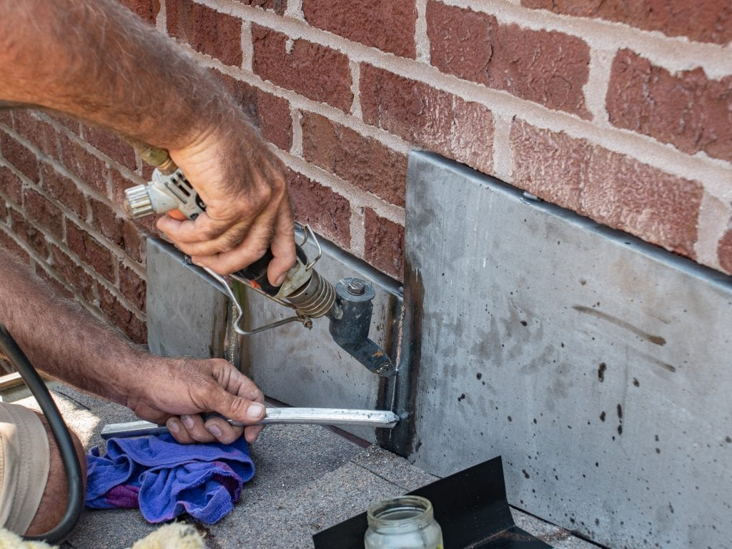 Chimney Flashing Soldering
