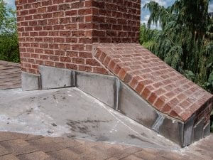 Soldered Chimney Flashing With Metal 26 gauge Chimney Cricket(Prior to Painting) West Chester.