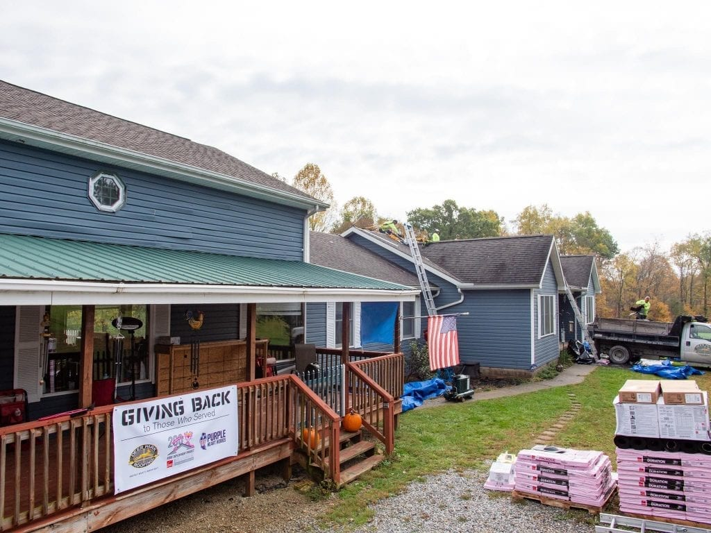 new roof for purple heart veteran