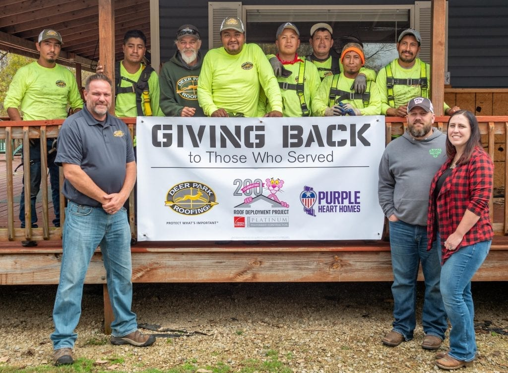 Deer Park Roofing Roof Donation