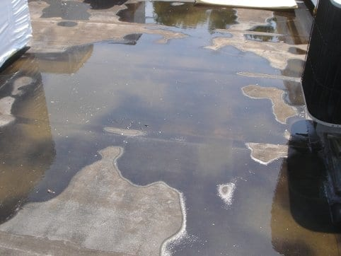 Commercial roof ponding water