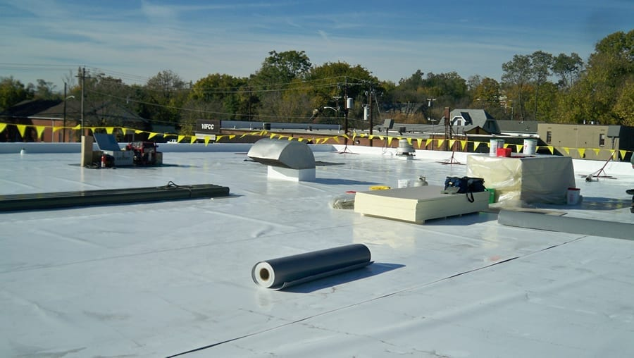 Installation of a TPO roof system